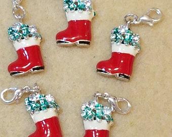 Santa Boot Charms