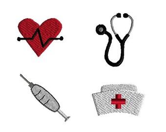 Mini Nurse Set Machine Embroidery Design Set-INSTANT DOWNLOAD