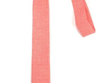 Korallen-Krawatte - Hochzeit Herren Krawatte dünne Krawatte Vicente Minnelli - entspannte Krawatte
