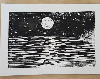 Sea'n Stars Block Print