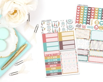 Boho Chic Collection-Recollections Mini Vertical Planner Stickers