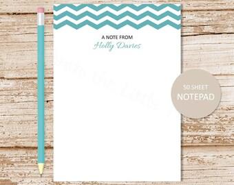 personalized chevron notepad . chevron note pad . chevron border . personalized stationery . custom stationary