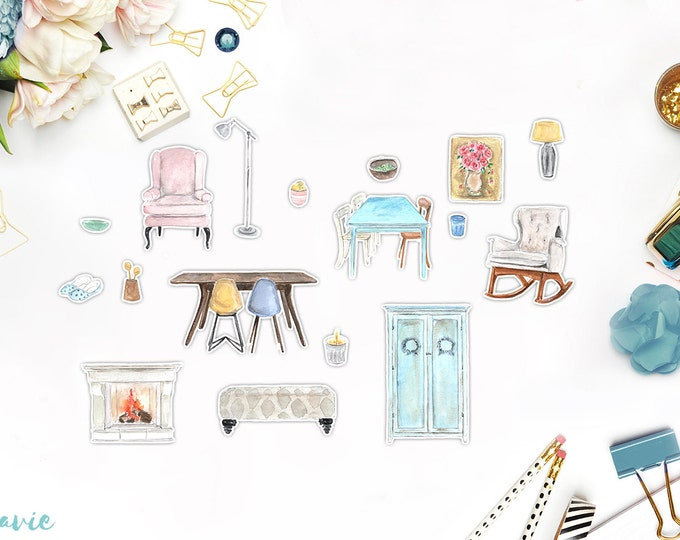 Furniture sticker set 17 pcs