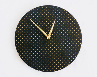 Wall Clocks, Black and Gold Art, Wood Clocks, Home and Living, Decor and Housewares