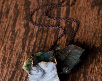 Low Tide Druzy Chalcedony Necklace