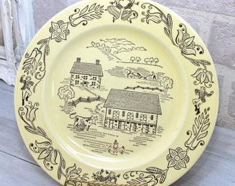 Bucks County Pennsylvania Dutch decorative 10 inch dinner plate