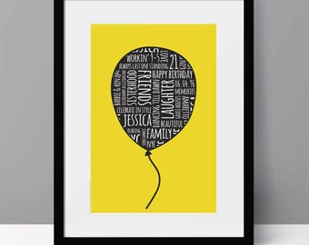 Personalised Balloon Word Art