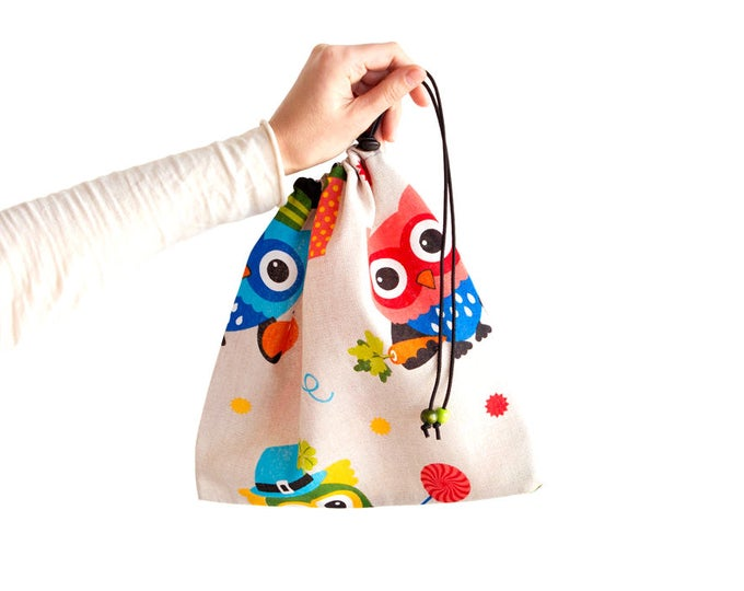 Outdoor Gift For Her, Outdoor Bag, Drawstring Bag For School, Drawstring Bag Girl With One String. For Gym, Travel, Voyage or Hiking
