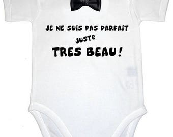 Funny baby Bodysuit I'm not perfect just beautiful
