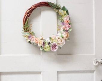 Floral Wreath - Pastel Mix