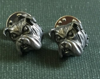 Bull Dog pins Scatter pins Lapel Pewter