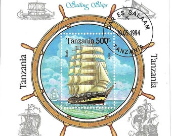 tanzania 1994 sailing ship souvenir sheet