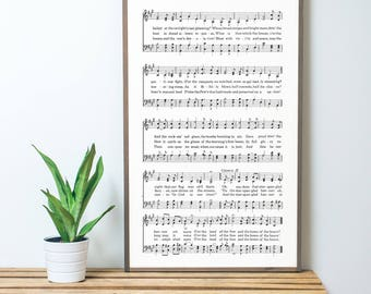 The Star Spangled Banner Sheet Music 2x4