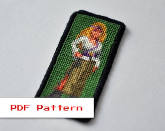 Cross Stitch PDF Pattern - Zanthia in Swamp - Legend of Kyrandia - Modern Embroidery Stitch Charts - Vintage Video Game - Pixel Art