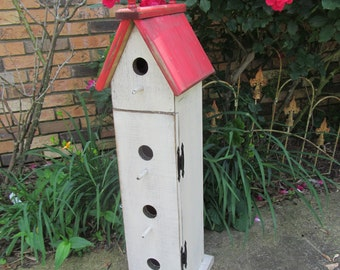 Birdhouse PATTERN easy clean out - Tall Birdhouse WC615