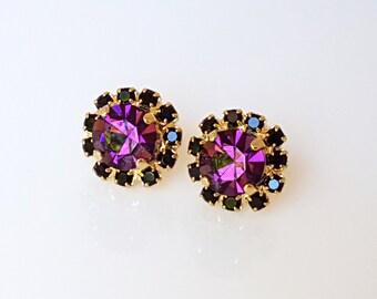 Amethyst Purple Stud Earrings, Purple Earrings, Purple Stud Earrings, Purple Earrings Studs, Amethyst Stud Earrings, Amethyst Earrings