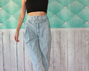 SMALL Women's Vintage, 1990s, High waist, tapered, DENIM jeans