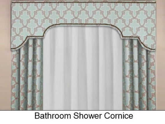 Custom Bathroom Shower Cornice Board Pelmet Box With