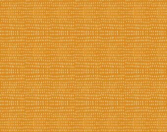 Seeds in Tangerine by Cori Dantini -- 1/2 Yard