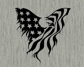 American flag eagle svg, america svg, eagle svg, American flag eagle clipart, cut files for cricut silhouette, png, dxf, eps