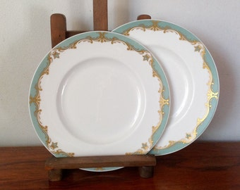 Pair of Vintage Royal Worcester Bone China Plates. 1962.