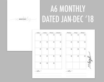 A6 TN Monthly 2018 (Jan - Dec)