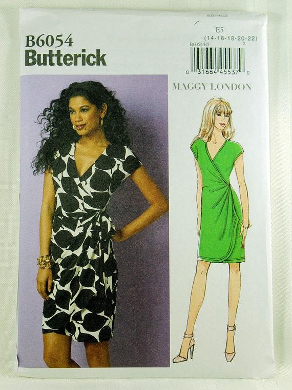 Butterick 6054 Misses\' Dress Sewing Pattern Wrap Dress