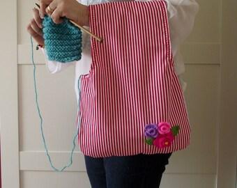 Wristlet Project Bag for Knitting Crochet Projects Wristlet Knitting Bag Yarn Bag Yarn Wrist Project Bag #4