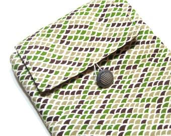 Padded iPad Sleeve - Kindle DX Sleeve - Tablet Sleeve - Briquetage by Alexander Henry Fabrics - Ready to Ship