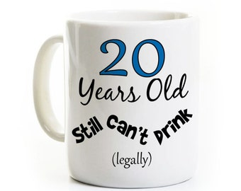 20e anniversaire cadeau café Mug - toujours ne peut pas boire - 20 ans vieux - Option de Mug de voyage