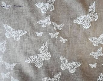 Original fabric linen representatives of romantic butterflies 'lace'