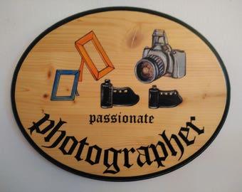 Photographer Wood plaque - Photographer home decor