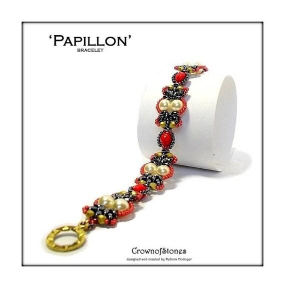 Bead pattern bracelet tutorial papillon with for Tutorial papillon