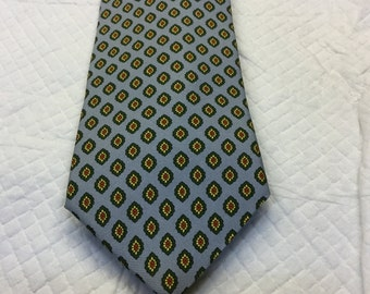 Vintage BROOKS BROTHERS cravatta cravatta di seta Italia rosso blu giallo