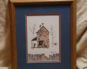 Betty Sills original Watercolor of a country home