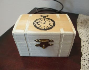 Wooden Jewelry Box, Jewelry Box, Treasure Box,Small Wooden Box, Men's Jewelry Box, Keepsake Box, Ring Box