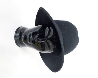 Vintage Black Wool Hat