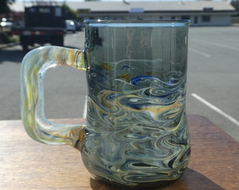 Hand blown Borosilicate Glass Mug