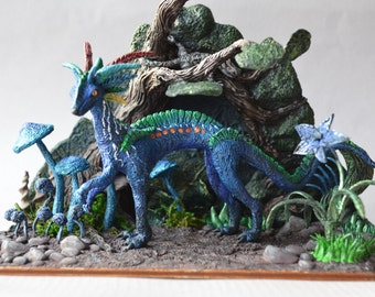 Diorama: bête fantastique sculpture Kilar