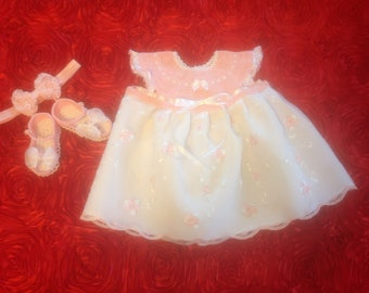 Newborn Baby Girl Dress Set - Bring Baby Home Pink