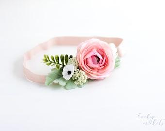 Pink Flower Crown Headband, Pink Flower Crown, Pink Flower Headband, Summer Flower Crown, Pink Flower Girl, Wedding Pink Flower Crown