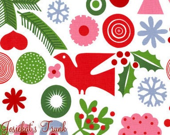 Merry Modernica Fabric - Alexander Henry Fabric - Discontinued Fabric AH Xmas - Euro Design Christmas Fabric - Out of Print Christmas Modern