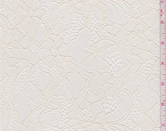 Ecru Floral Lace, Fabric By The Yard