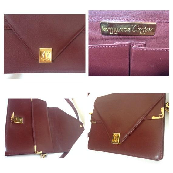 5ab22ba27c7f De Nouveaux Styles Cartier Vintage Cartier Double Flap Envelope Classic  Shoulder Bag Cartier Cru Double Rabat D enveloppe Sac À Bandoulière  Classique Must ...