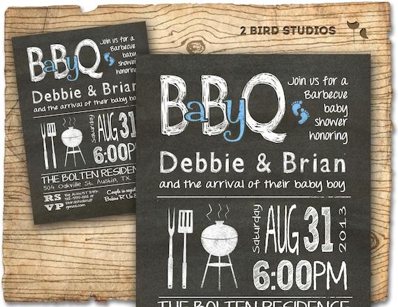 Baby q baby shower invitation bbq baby shower invite diy like this item filmwisefo Gallery