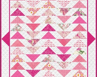 Quilt Kit, Fat Quarter Quilt, Baby Blanket, Quilt Pattern and Fabric, Art Gallery Plenum Quilt Kit includes fabric and pattern