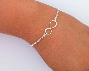 Infinity Bracelet - Bridesmaid Gifts, Infinity Bracelet, Sterling Silver Bracelet