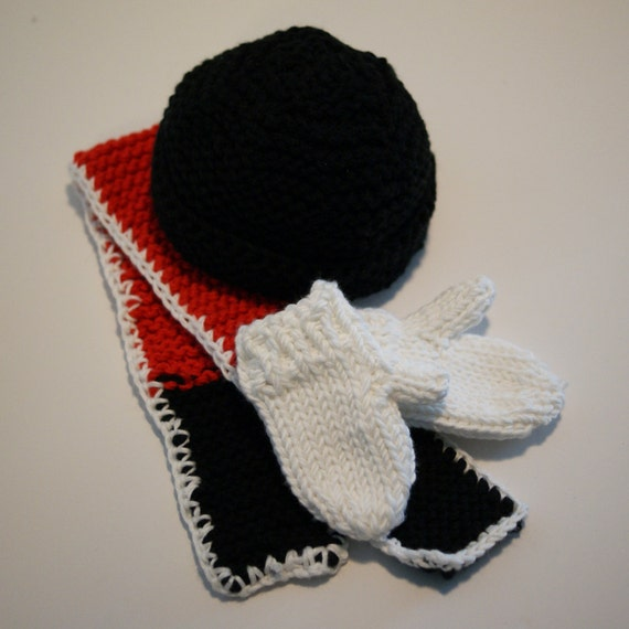 3-piece Get Ready for Winter Set (COTTON Hat, Scarf, Mitts) for your American Girl or other 18-inch Doll