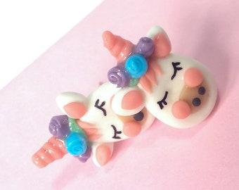 Unicorn earrings, fantasy earrings, cold porcelain earrings, magical jewelry, unicorn jewelry, kawaii earrings, cute horse, jewelry handmade