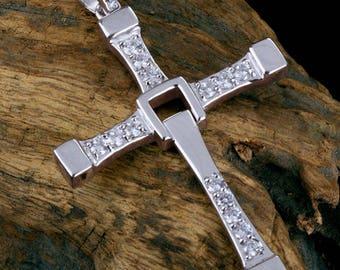 Toreto Cross handmade Silver .925 with Zircons
